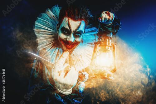 clown with lantern Wallpaper Mural