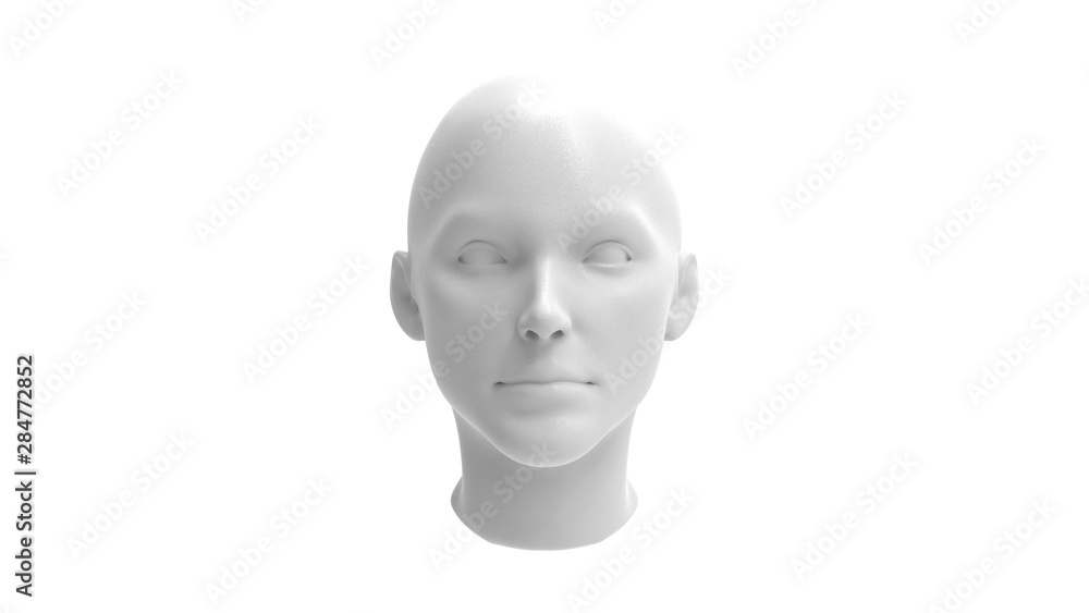 Fototapeta 3d rendering of a human model isolated in white background