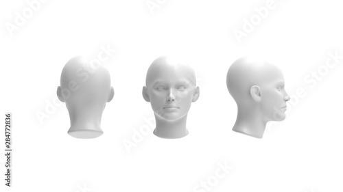 3d rendering of a human model isolated in white background Fototapete