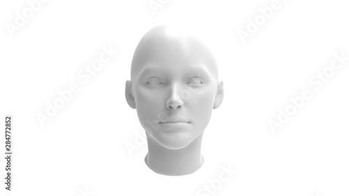 Obraz 3d rendering of a human model isolated in white background - fototapety do salonu