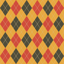 Argyle Fall Seamless Pattern P...