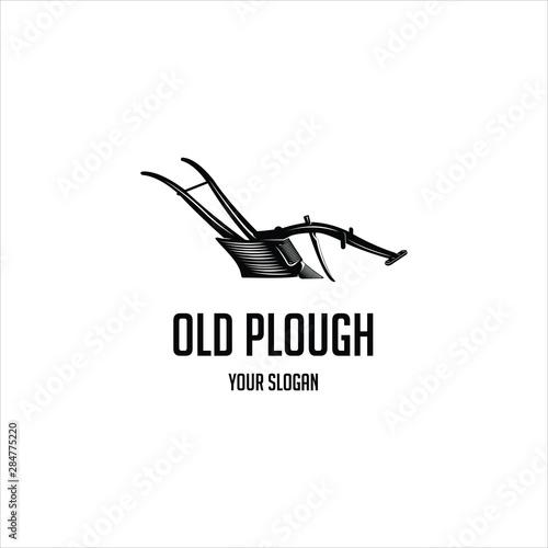 Cuadros en Lienzo old plough vintage  logo