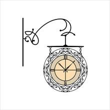 Wrought Iron Clock Design