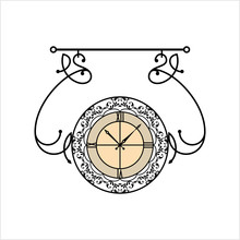 Wrought Iron Clock Design