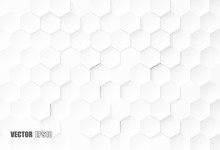 Abstract. Embossed Hexagon , H...