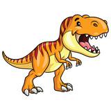Fototapeta Dinusie - Tyrannosaurus Rex Cartoon