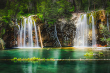Serene Hanging Lake Waterfalls
