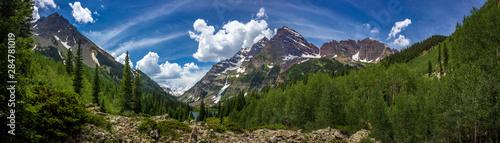 Fotografia Maroon Bells and Crater Lake Panorama