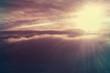Leinwandbild Motiv Sunset background