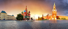 Panorama In Moscow At Sunrise,...