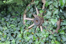 Old Vintage Wooden Cartwheel O...