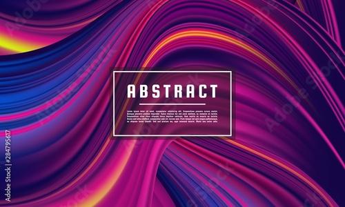 Dark purple abstract geometrical template, Purple Wave Color Flow background vec Fototapet