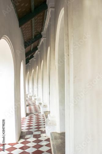 Photo Sidewalk inside pathommachedi, The pedestal around Thai 's Temple, Thailand, Wal
