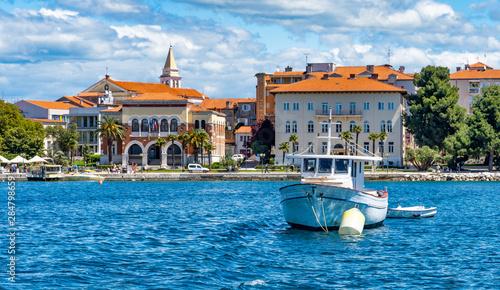 Foto auf AluDibond Himmelblau Hafen und Altstadt Porec, Istrien, Kroatien