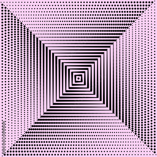 Pink background and black dots. Vector Canvas Print