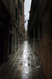 Fototapeta Uliczki - Narrow street of Venice in a mysterious night