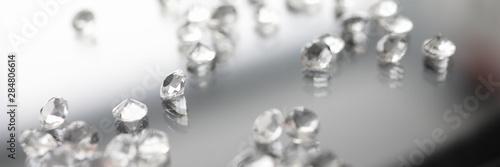 Glass gemstone on transparent background. Jewelry symbol. Diamond set.