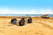 Sandy Beach - Launching And Raising A Boat On A Trailer
