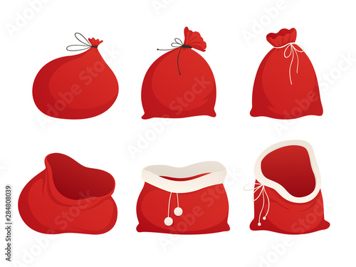 Set red sacks of Santa Wallpaper Mural