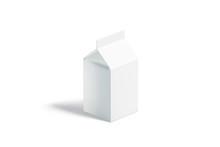 Blank White Small Milk Pack Mo...