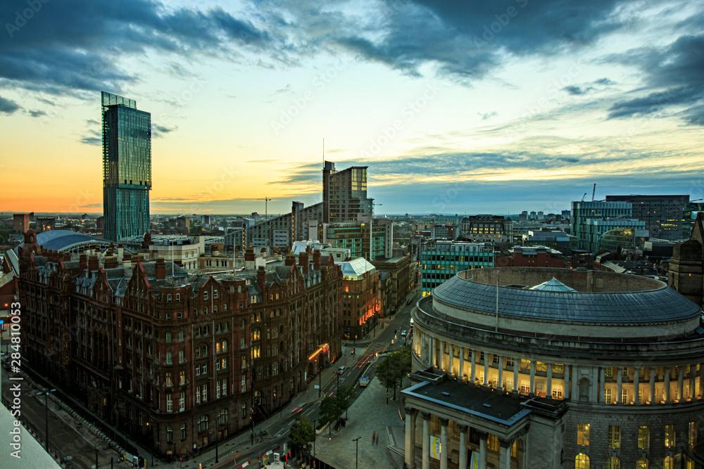 Fototapety, obrazy: Manchester, UK, evening, streets