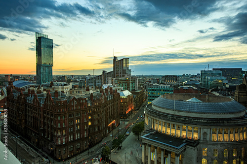 Photo Manchester, UK, evening, streets