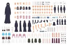 Young Arab Woman In Burqa Cons...