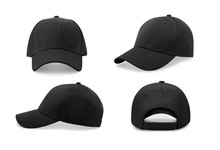 Black Baseball Cap In Four Dif...