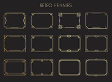 Gold Retro Frames. Style Of 19...