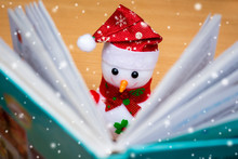 Toy Snowman With Open Book  Du...