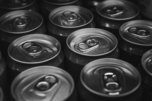 Aluminum Beverage Cans In Blac...