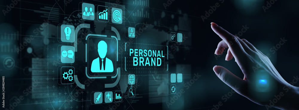 Fototapeta Personal branding brand development business education concept.