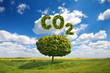 canvas print picture - CO 2 Ausstoß - Klimaschutz
