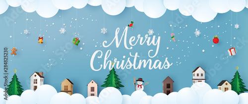 Obraz Merry Christmas and Happy New Year - fototapety do salonu