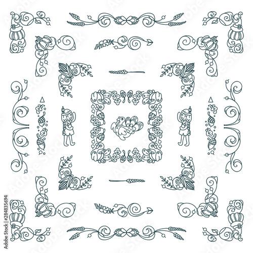 Pinturas sobre lienzo  Vector set of elements for design