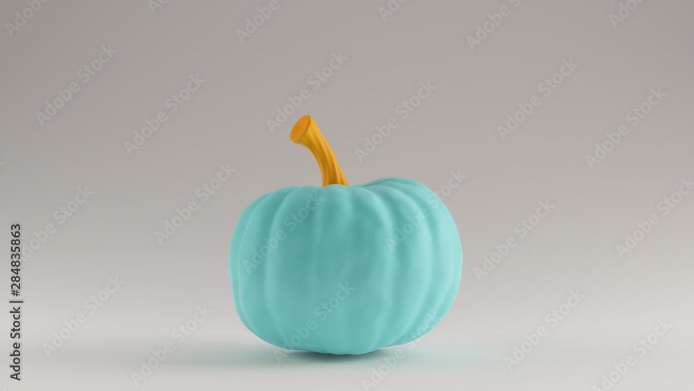 Fototapeta Gulf Blue Turquoise and Orange Pumpkin. Gourd Right View 3d illustration