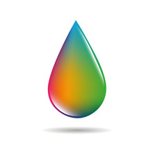 Colorful Drop In Rainbow Colors On White Background Vector Illustration EPS10
