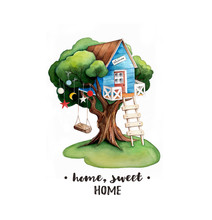 Home, Sweet Home Watercolor Il...