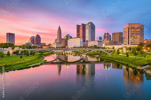 Columbus, Ohio, USA skyline on the river Fototapet