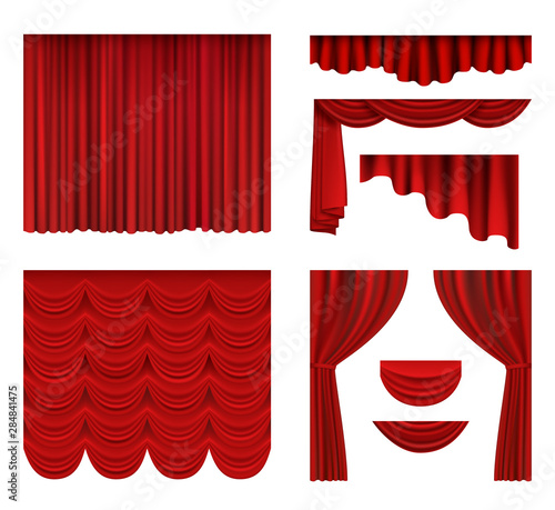 Red curtains Fototapete