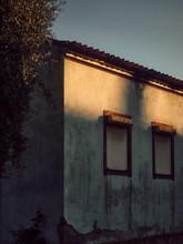 Last Light On Old House