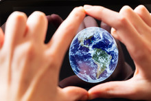Hands Framing The Earth - Crea...