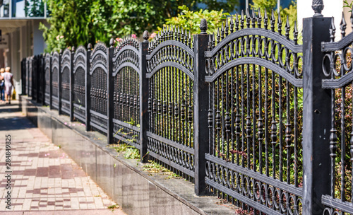 Tablou Canvas Wrought Iron Fence. Metal fence