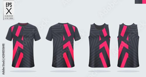 Fotografía T-shirt sport mockup template design for soccer jersey, football kit, tank top for basketball jersey and running singlet