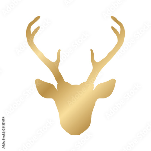 Keuken foto achterwand Boho Stijl Hand drawn deer head silhouette