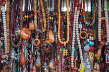 Colorful Necklaces Made Of Sto...