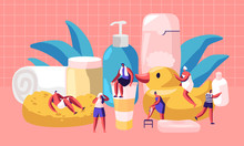 People In Bathroom Concept. Ti...