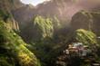 canvas print picture - Fontainhas, kleiner Ort auf Santo Antão, Cape Verde, West Africa