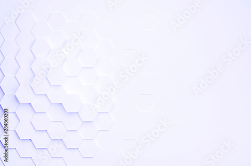 Fototapety, obrazy: abstract hexagon background as template - 3D Illustration