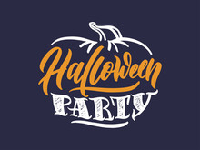 Halloween Logo. October Holiday Celebration Handwritten Lettering. Halloween Festive Decoration, Stickers Pack. Trick Or Treat, Happy Boo Day, Pick Your Poison, Children And Adults Party Calligraphy F